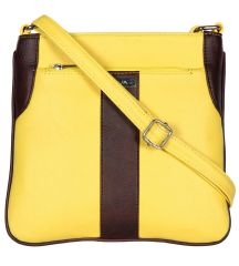 ESBEDA Yellow Color Pu Synthetic Slingbag For Womens