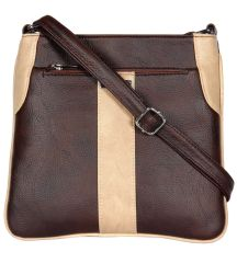 ESBEDA Brown Color Pu Synthetic Slingbag For Womens