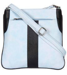 ESBEDA Light Blue Color Pu Synthetic Slingbag For Womens