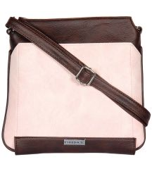 ESBEDA Light Pink Color Pu Synthetic Slingbag For Womens