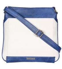 ESBEDA White Color Pu Synthetic Slingbag For Womens