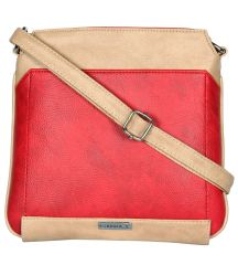 ESBEDA Red Color Pu Synthetic Slingbag For Womens