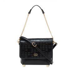 ESBEDA Pu Synthetic Black Slingbag For Womens_1685