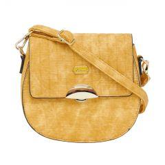 ESBEDA Pu Synthetic Yellow Slingbag For Womens_1693