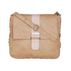 ESBEDA Beige Color Solid Drymilk Slingbag For Women-1725