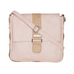 ESBEDA Light Pink Color Solid Drymilk Slingbag For Women-1726