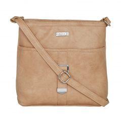 ESBEDA Beige Color Solid Drymilk Slingbag For Women-1731