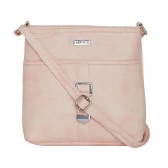 ESBEDA Light Pink Color Solid Drymilk Slingbag For Women-1732
