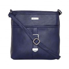 ESBEDA Dark Blue Color Solid Drymilk Slingbag For Women-1733