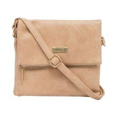 ESBEDA Beige Color Solid Drymilk Slingbag For Women (Product Code - 1737)