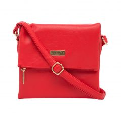 ESBEDA Red color Solid Drymilk Slingbag for women (Product code - 1741)