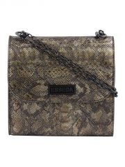 ESBEDA Brown Snake Work PU Synthetic Slingbag For Women(Code-3410)