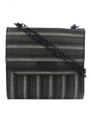 ESBEDA Black Striped PU Synthetic Slingbag For Women(Code-3420)