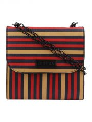 ESBEDA Multicolor Striped PU Synthetic Slingbag For Women(Code-3422)