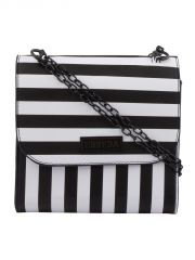 ESBEDA Black & White Striped PU Synthetic Slingbag For Women(Code-3423)