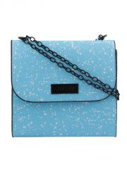 ESBEDA Blue Printed PU Synthetic Slingbag For Women(Code-3434)
