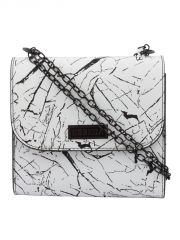 ESBEDA White Printed PU Synthetic Slingbag For Women(Code-3442)
