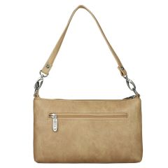 ESBEDA Drymilk Beige PU Synthetic Slingbag For Women Beige