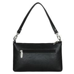 ESBEDA Drymilk Black PU Synthetic Slingbag For Women Black