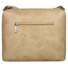 ESBEDA Solid Beige PU Synthetic Slingbag For Women's Beige