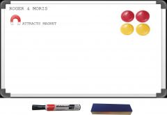 Shop or Gift Combo of Magnetic White Board 3 x 2   Magnetic Buttons, Marker, Duster Online.