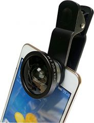 Super Wide Angled Selfie Lens For Smart Phones - With A Clip On Design.
