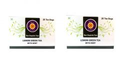 lemon green tea with mint (Pack of Two) - 50 Tea Bags
