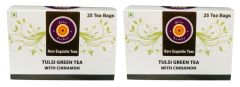 Tulsi Green Tea With Cinnamon (Pack Of Two) - 50 Tea Bags