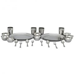 Deemark  24 Pcs Stainless Steel Economy Dinner Set
