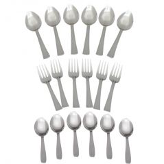 Deemark Steel spoon 18 Pcs Cutlery Set