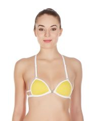 La Intimo Women's Clothing - La Intimo - Gusset Bra  In Yellow-(Product Code-LIBRTH019YW0)