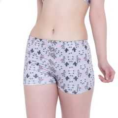 Multi (Digital Prints) La Intimo Punk Life Shorts Resort/Beach Wear - ( Code -LIFPY011ZH0_L) L, Multi (Digital Prints)