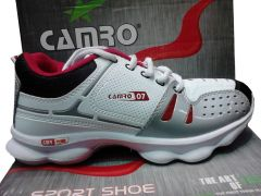 Shop or Gift Camro Sports Cool Air White And Red Running Shoes Online.