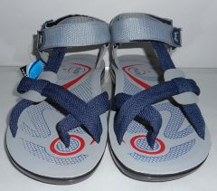 Shop or Gift Men Light weight sandals in Grey and Deep Blue Online.