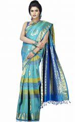 Silk Sarees - Sudarshan Silks Blue Silk Saree-MKJ18