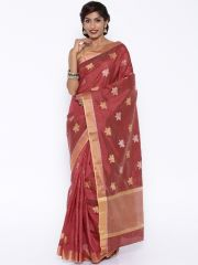 Sudarshan Silks Silk Sarees - Sudarshan silks SUDARSHAN NEW DESIGNER RAW SILK SAREE-Maroon-KSPL933-VT-Raw Silk