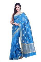 Sudarshan Silks Women's Clothing - Sudarshan silks RAW SILK NEW DESIGNER SAREES-Blue-KSPL938-VT-Raw Silk