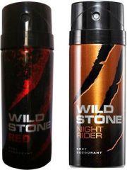 Wild Stone Red And Night Rider Combo Set (Set Of 2)
