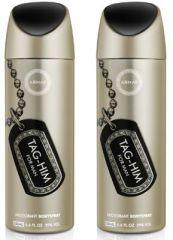 Set Of 2 Armaf Tag-him Deodorant For Man - 200 Ml