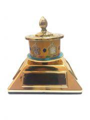 Buddhist Om Mani Prayer Wheel (With 4 Solar Cell) Prayer Wheel