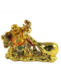 Laughing Buddha HOLDING HAMP SACK FOR PROSPERITY & WEALTH