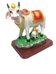MATA KAMDHENU LAXMI COW ( GAU MATA ) WITH CALF IDOL STATUE