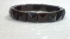 Black Onyx Pyramid Shaped Bracelets (Crystal Healing)