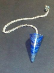 Lapiz Crystal Cone Shape Dowser (Crystal Healing) Lapis Crystal Dowser