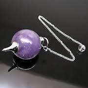 Amethyst Crystal Ball Shape Dowser (Crystal Healing) Amethyst Crystal Dowser