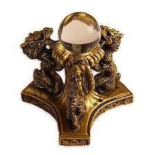 3 Golden Imperial Dragons With Crystal Ball For Prosperity And Luck
