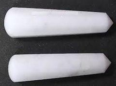 White Agate Healing Wand (Crystal Healing) White Agate Pyramid Wand