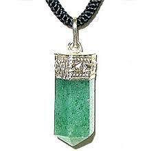 Green Aventurine Pendant (Crystal Healing) Pyramids Fengshui Vastu