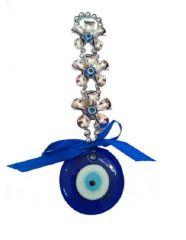 EVIL EYE FLOWER HANGING FOR PROTECTION & PROSPERITY