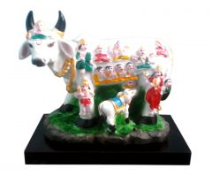 MATA KAMDHENU COW ( GAU MATA ) WITH CALF IDOL STATUE